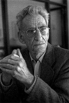 George Oppen, 1981 Foto door Richard Friedman