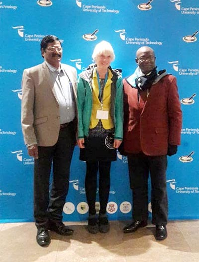 VC., Olabisi Onabanjo University, Prof. G.O. Olatunde with other Keynote speakers at the Conference in South Africa