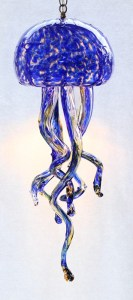 Cobalt Jellyfish Chandelier