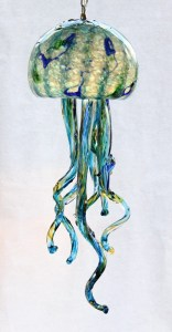 Aqua Jellyfish Chandelier