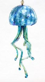 Aqua Jelly Fish Chandelier