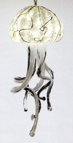White/Black Jellyfish Chandelier 9x24