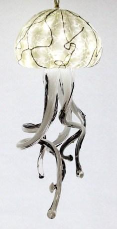 White/Black Jellyfish Chandelier 9x24