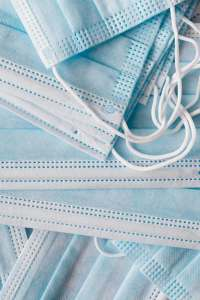 light blue one use medical protective masks