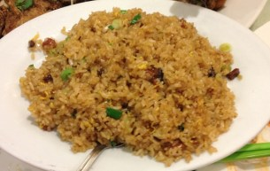 Fried Glutinous Rice with Chinese Sausages