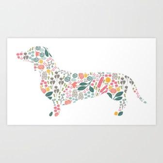 dachshund-floral-watercolor-art-prints