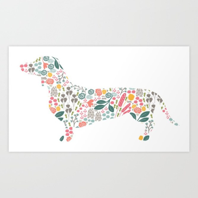 dachshund-floral-watercolor-art-prints