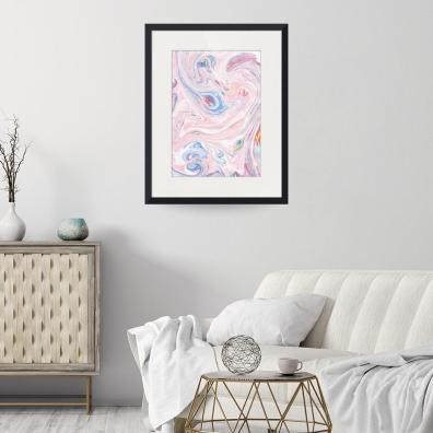 LUXURY ROSE MARBLE ART PRINT