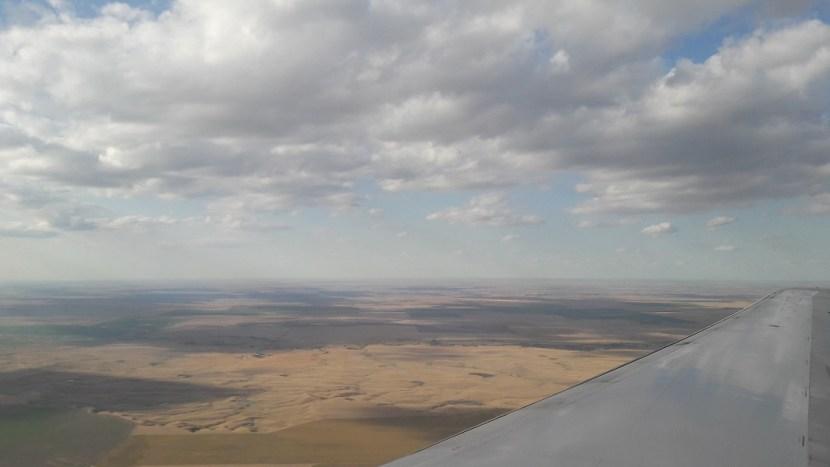 heenreis 2017 blik uit vliegtuig
