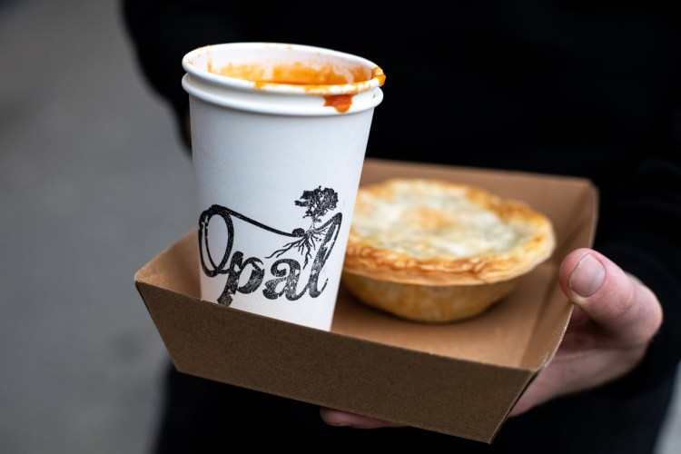 soup and pie for take away