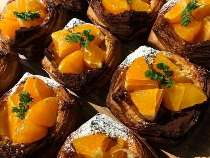 オパンの 清見オレンジとショコラのデニッシュとショコラのデニッシュ(2017.04.28)