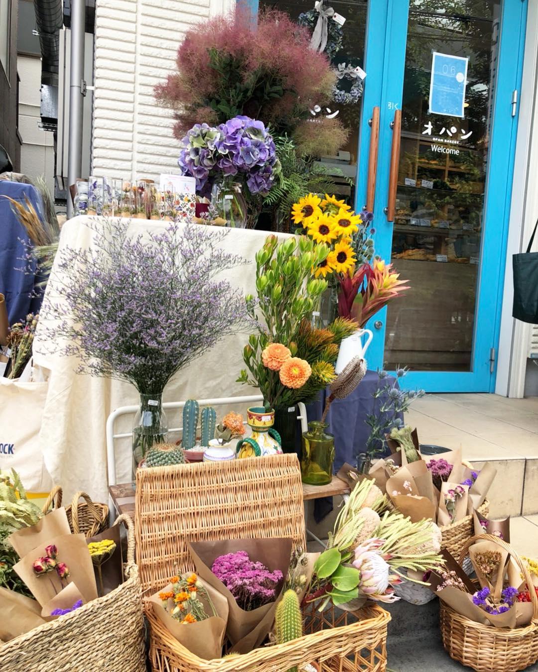 21018年10月7日(日)にオパン1日花屋をオープンします