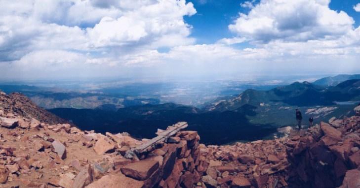 Pikes Peak Summit in Colorado