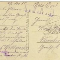 29.11.1915: Nie mehr mit Tintenstift