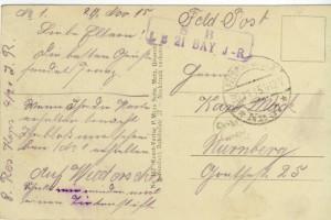 Feldpostkarte Erster Weltkrieg Noveant