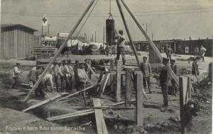 Feldpostkarte Erster Weltkrieg Baracke