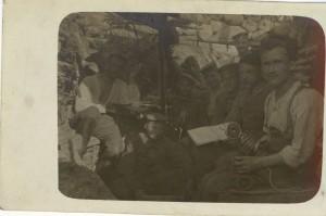 Feldpostkarte Erster Weltkrieg Schützengraben