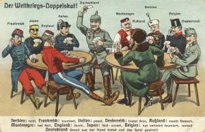 Feldpostkarte Erster Weltrkieg Weltkriegs-Doppelskat