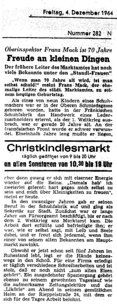 Nürnberger Nachrichten 04.12.1964