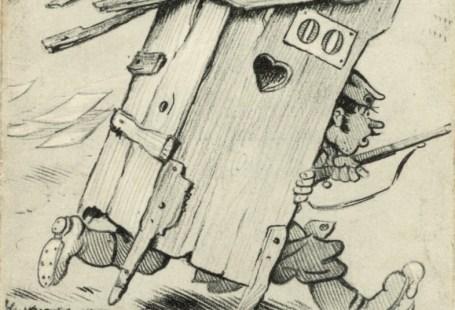Feldpostkarte Erster Weltkrieg Alarm