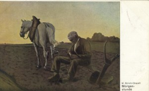 Feldpostkarte Erster Weltkrieg Morgenstunde