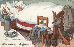 Feldpostkarte Erster Weltkrieg Daheim ist Daheim