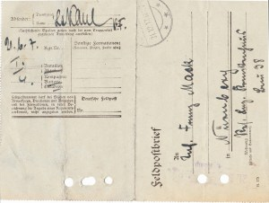 Feldpostbrief Leutnant Kaul 28.12.1917 02