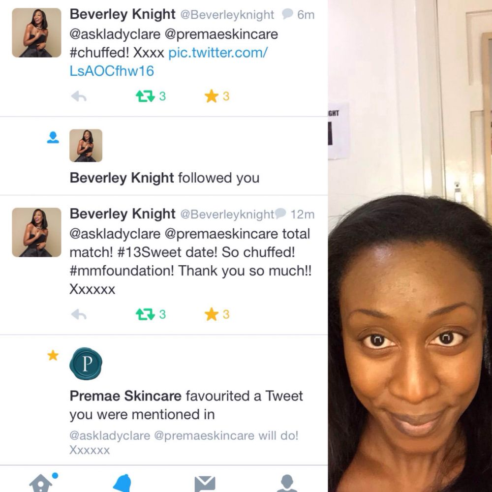Premae attracts Celebrity Fan Beverely Knight