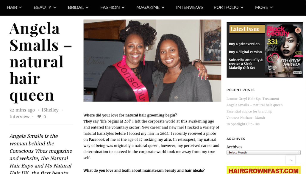 Press: Natural Hair Expo featured by Black Beauty & Hair Mag, March 2016