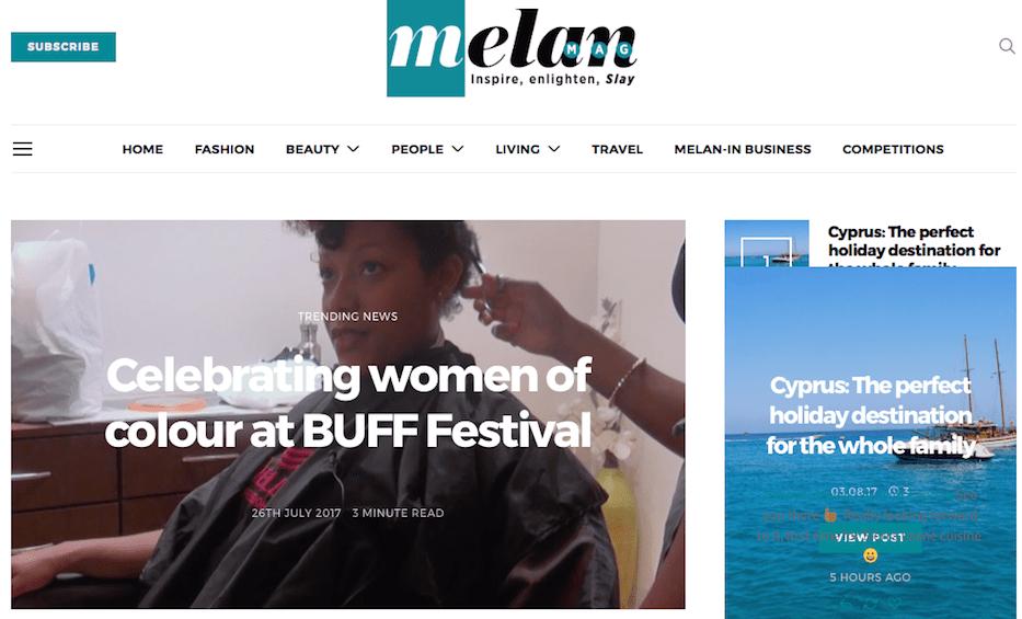 @MelanMagazine feature @buffenterprises 2017 line up of top female talent