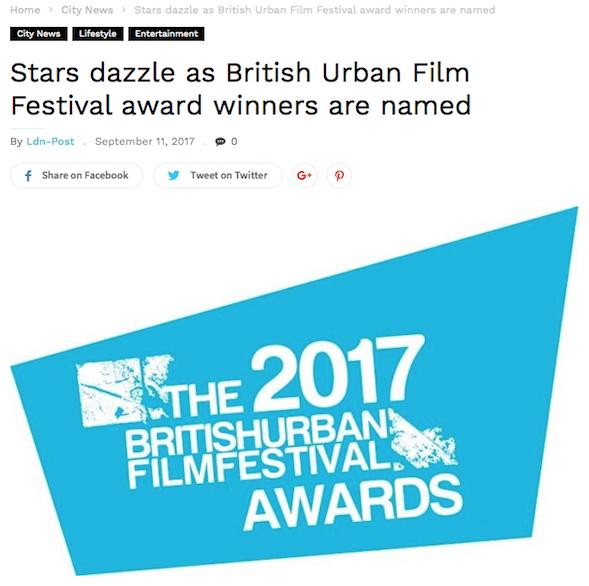 @LondonPostUK features last weeks @buffawards winners