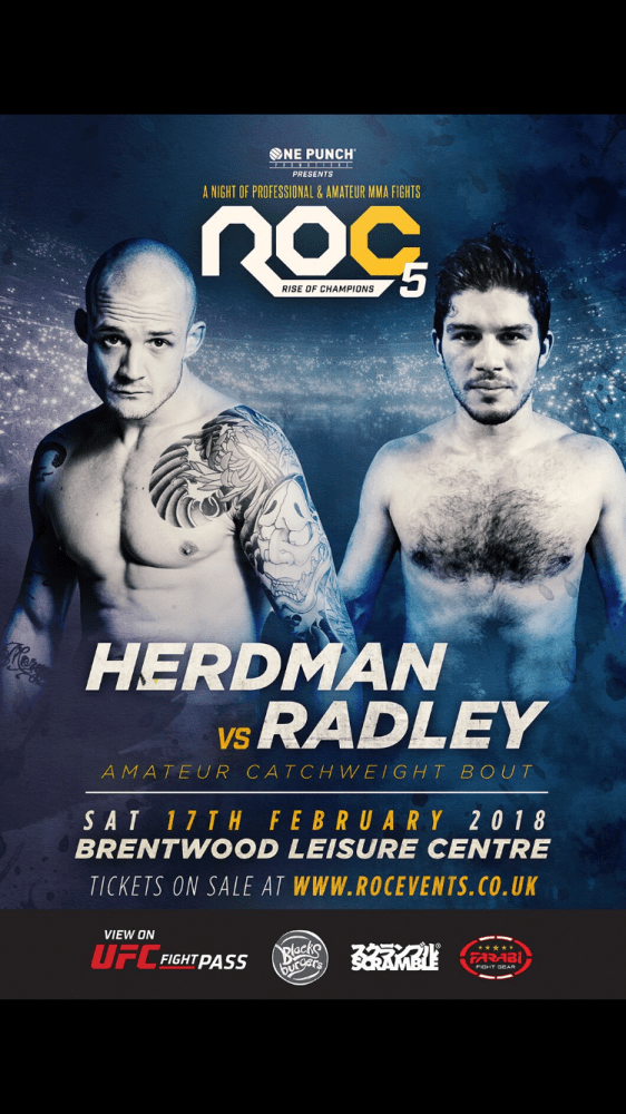 @josh_herdman scheduled to fight @TheRocEvents @One_Punch February 17 2018