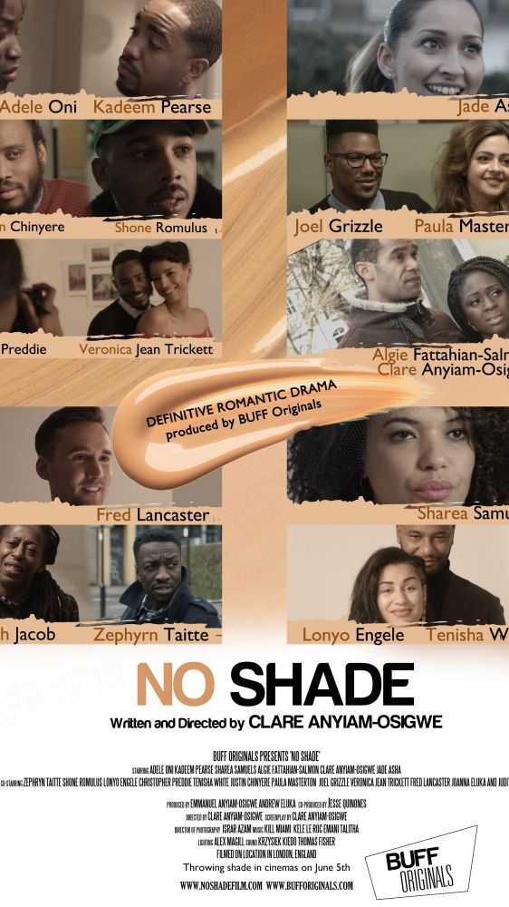 @noshadefilm lead actors @pearseuk and @adele_oni go live on @abnradiouk to talk love, dating and the fetishism of light skin.