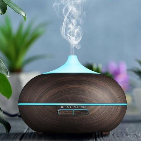 38% off GDAS 2509EU Aroma Diffuser 300ML Essential Oil Diffuser Electric Ultrasonic Humidifier – BLACK Gearbest Coupon Promo Code