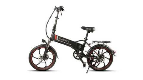 Samebike 20LVXD30 black - Samebike 20LVXD30 Smart Folding Electric Bike Gearbest Coupon Promo Code [Poland Warehouse]
