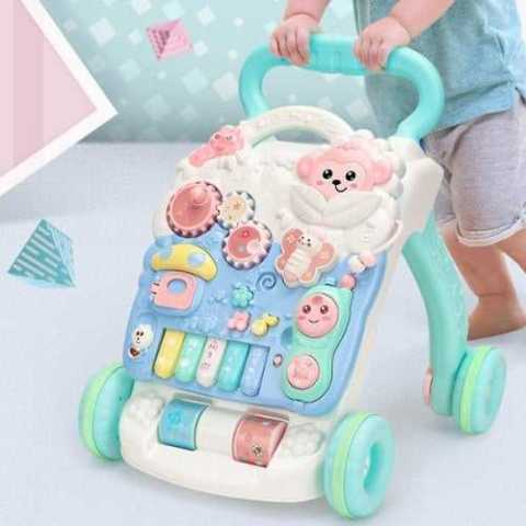 10% off Early Education Puzzle Children's Trolley with Water Tank Baby Walker Toy – LIGHT AQUAMARINE Gearbest Coupon Promo Code