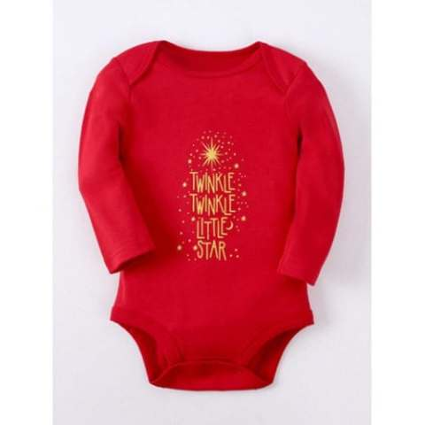 10% off Kids Long Sleeve Letter Baby Romper – RED 90 Gearbest Coupon Promo Code
