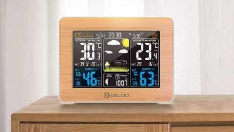DIGOO DG EX002 - DIGOO DG-EX002 Color Screen Wood Weather Station Banggood Coupon Promo Code