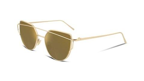 FEISEDY b2206 - FEISEDY B2206 Cat Eye Mirrored Flat Lenses Women Sunglasses Amazon Coupon