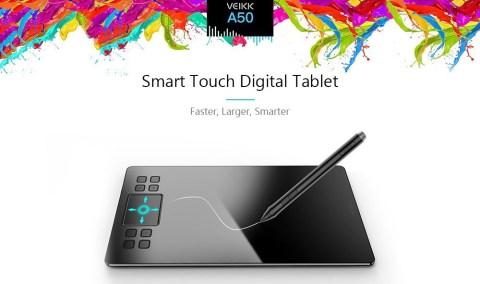 veikk a50 0.9cm digital tablet drawing panel