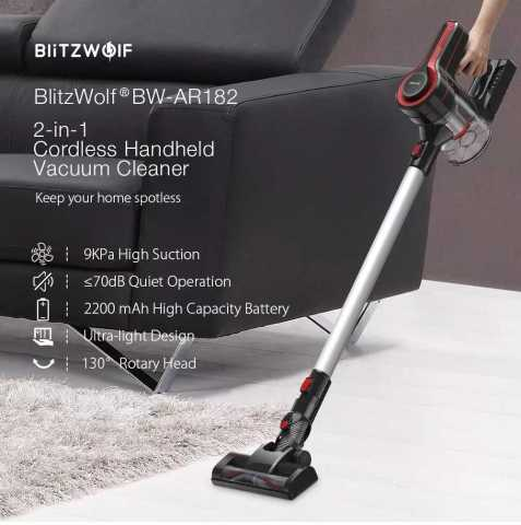 BlitzWolf BW-AR182 2-in-1 Cordless Handheld Vacuum Cleaner