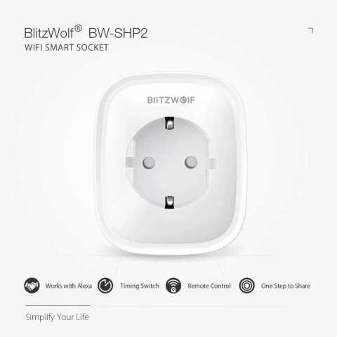 blitzwolf bw-shp2 16a smart wifi socket