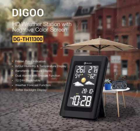Digoo DG TH11300 Weather Station - Digoo DG-TH11300 Wireless HD Negative Color Weather Station Banggood Coupon Promo Code