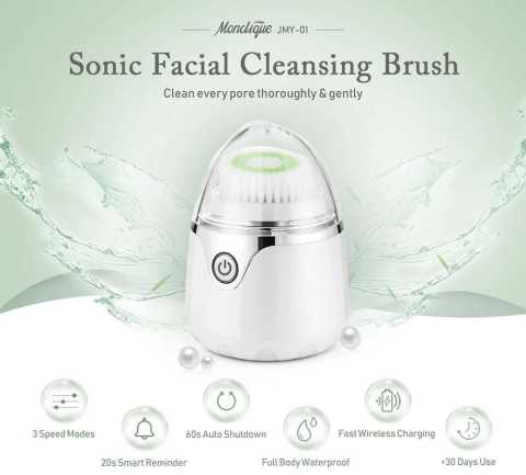 Monclique JMY 01 Sonic Facial Cleansing Brush - Monclique JMY - 01 Sonic Facial Cleansing Brush Gearbest Coupon Promo Code