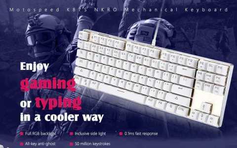 Motospeed K87S NKRO - Motospeed K87S NKRO Mechanical Keyboard Gearbest Coupon Promo Code
