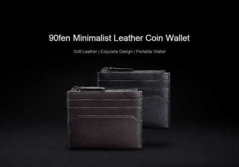 Xiaomi 90FUN Minimalist Leather Coin Wallet - Xiaomi 90FUN Minimalist Leather Coin Wallet Gearbest Coupon Promo Code