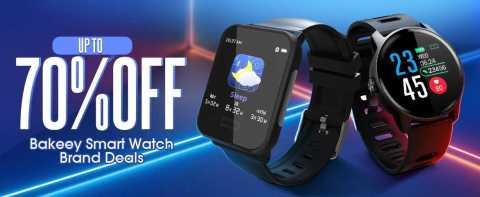 70off bakeey smart Watch deals - up to 70% off Bakeey Smartwatch Brand DEALS
