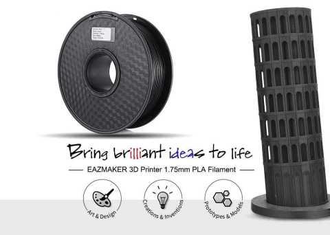 Eazmaker 3D Printer PLA Filament - Eazmaker 3D Printer 1.75mm PLA Filament - Black Gearbest Coupon Promo Code