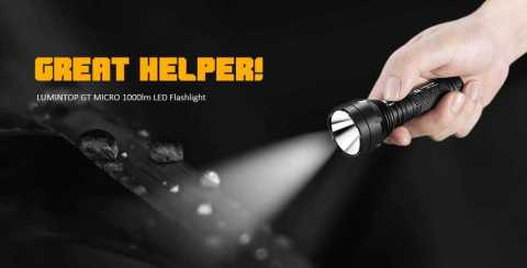 LUMINTOP GT MICRO - LUMINTOP GT MICRO 1000lm LED Flashlight Gearbest Coupon Promo Code