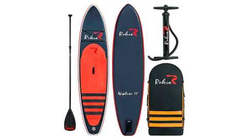 Rokia R Inflatable Stand Up Paddleboard - Rokia R Inflatable Stand Up Paddleboard 11' Amazon Coupon Promo Code [Orange]